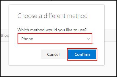 Choose to configure the Phone method